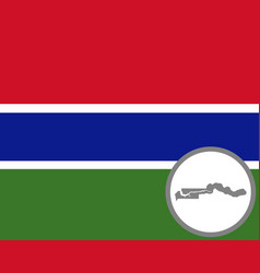flag and map gambia vector image