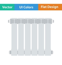Flat design icon of Radiator vector image