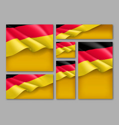 germany republic patriotic festive banners vector image