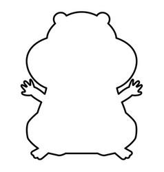 Hamster silhouette black color icon vector