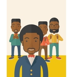 Handsome black businessmen vector image