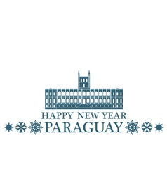 Happy New Year Paraguay vector