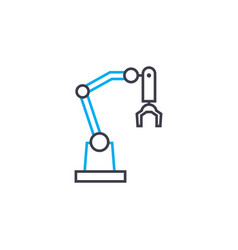 industrial robot linear icon concept industrial vector image