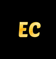 initial letters ec with logo design inspiration vector image