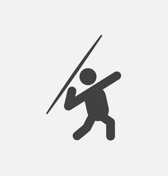 Javelin throwing athlete man vector