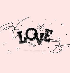Love - lovely lettering quote handwritten tattoo vector