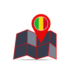 Map mali is isolated with country vector