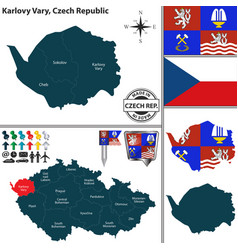map of karlovy vary czech republic vector image
