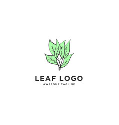 natural leaf logo template design inspiration vector image