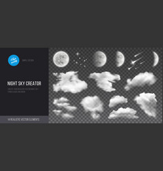 Night sky creator vector