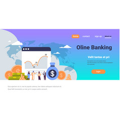 Online banking arabic people consultation money vector