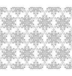 Ornamental lacy regular oriental ornament snow vector