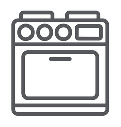 oven line icon appliance and cooking cooker sign vector image