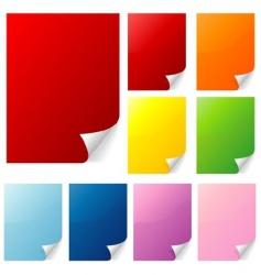 page curls vector image vector image