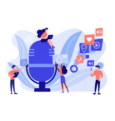 Podcast content concept vector