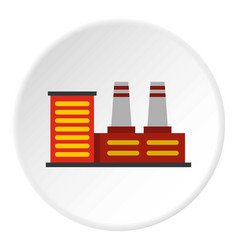 Power plant icon circle vector