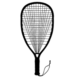 Racquet ball vector