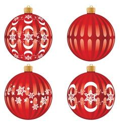 Red xmas ball design5 vector