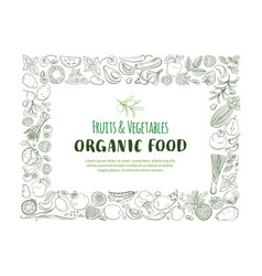 restangle frame border pattern organic farm fresh vector image