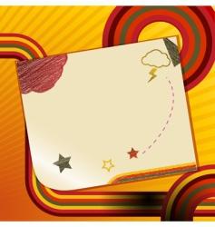 retro doodle note vector image