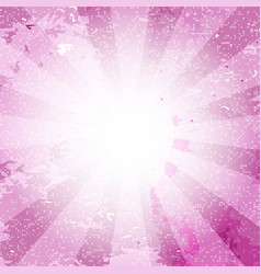 Retro vintage pink rays background with white dots vector