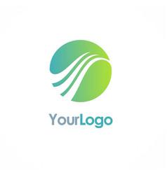 round sphere loop logo vector image