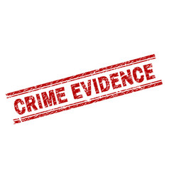 Scratched textured crime evidence stamp seal vector
