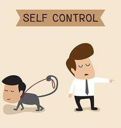 Self control vector image