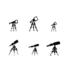 Set of hand drawing telescope sketch telescope vector