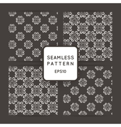 Set of seamless patterns with crossed and vector image vector image