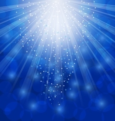 Shimmering Xmas Light Background with Rays Winter vector