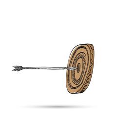 sketch pencil target vector image