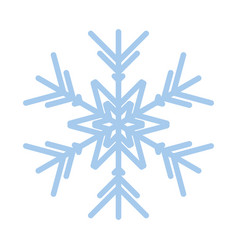 snowflake winter new year blue art symbol icon vector image