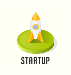 startup icon symbol vector image