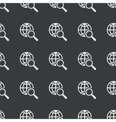 Straight black global search pattern vector