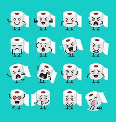 Tissue paper emoji set vector