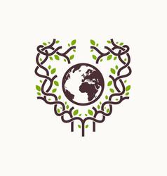 tree world care logo abstract vector image