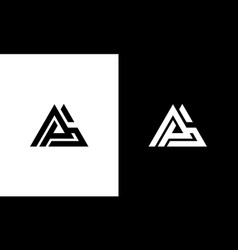 triangle with initial letter pg gp or pag logo vector image