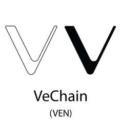vechain black silhouette vector image