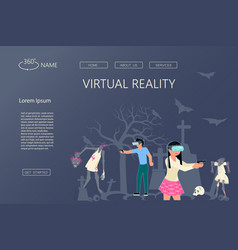 Website vr technology vector