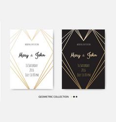 Wedding invitation invite card design with vector