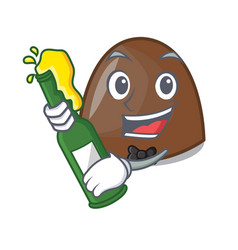 With beer chocolate candies mascot cartoon vector