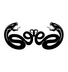 With two snakes vector