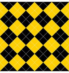 Yellow Black Diamond Background vector image