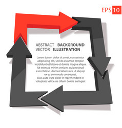 business infographic 3d abstract background vector image