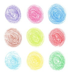 Color pencil round spots vector image vector image