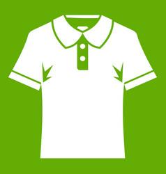 men polo shirt icon green vector image vector image