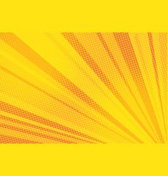 pop art yellow background light vector image