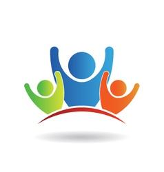 Team Family Logo vector image vector image