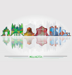 wellington city background vector image vector image